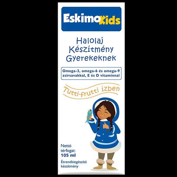 Eskimo Kids halolaj gyerekeknek tutti-frutti ízben